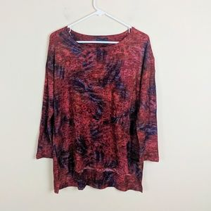 Nally & Millie • Red and Purple Blouse [Tops]